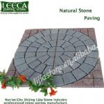 Natural stone paving garden stepping block