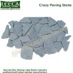 Orra dark grey granite gravel crazy paving stone