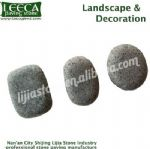 Landscape & Decoration cobblestone Chinese dark grey granite