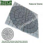 Blanco Perla Granite central circle flagstone