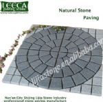 Garden decor central circle split joint natural stone
