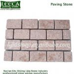 Oceanic Red paving stone split joint mesh block
