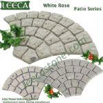 White rose patio series Euro fan stone tiles