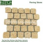 Sunset yellow granite Landon cobblestone mesh paver