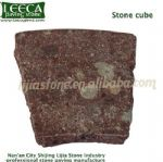 Flamed top natural sides stone cube