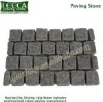 River rock paving stone natural finish black granite