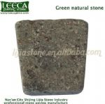 Green natural stone porphyry cube irregular block
