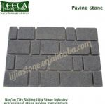 London paving cobblestone dark grey split joint stone