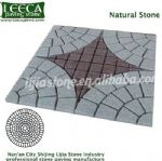 Centre Polaris lucky star pattern natural stone mat