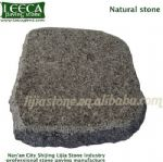 Natural granite stone cube chamfer angle block