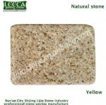 Yellow natural stone cube China sunset granite