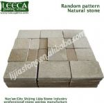 Random pattern natural stone Irregular size combination flagstone