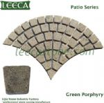 White porphyry Kamen patio flagstone Euro fan