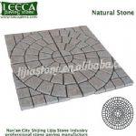 Manama light pink natural stone cobblestone paver sheets
