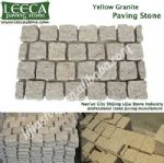 Yellow granite paving stone natural finish flagstone