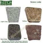 Different shape porphyry granite stone cube