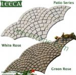 Porphyry patio series white rose green rose Euro fan