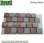 Interlocking porphyry mix color edging garden stone
