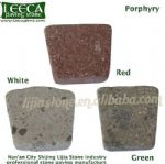 Red white green porphyry cobblestone turf stone pavers