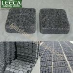 Amman dark grey granite interlock flagstone paving slabs
