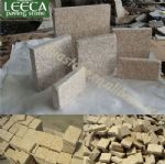 Warm earth tone natural stone tiles yellow granite