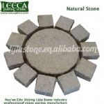Garden fountain decorative stone sun shape field stone