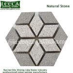 Hexagon granite paving stone outdoor tiles, Aqaba paving