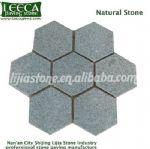 Light grey hexagon granite paving stone