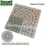 Mix color natural stone central circle