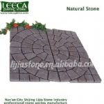 Chinese red porphyry cobblestone mat garden stone