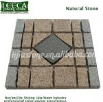 Garden walkway decorative granite cobblestone