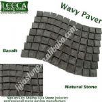 Basalt wavy paver natural stone driveway cobblestone, Jidda paving