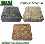 Granite cubic stone, kerbstone, natural surface saw cut finish