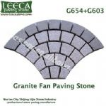 G654 G603 granite fan paving stone