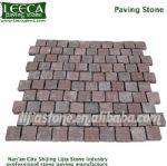 Retangular interlocking red porphyry paving stone