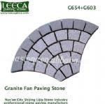G654 G603 grey granite fan shape paver