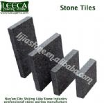 Outdoor stone tiles dark grey granite