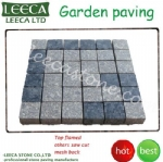 Outdoor cladding stone mesh cobbles