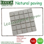 Interlock tiles mesh stone pavers