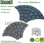 Granite peacock tail paver garden decor