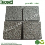 Natural granite cube block