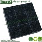 Black granite cobblestone mat stone cube