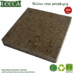 Yellow rose porphyry pathway stone