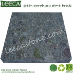 Green porphyry stone brick tiles