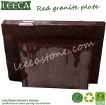 Red granite tiles plate stone