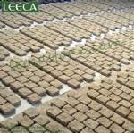 Mesh cobble stone mat carpet paver
