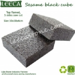 Sesame black cube granite cobbles