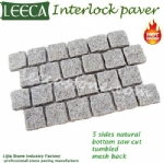 Light grey granite cobbles mat carpet stone