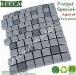 Carpet cobble stone on mesh