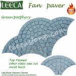 Green porfido cobbles mat porphyry carpet stone